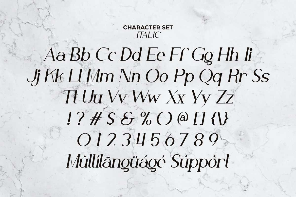 White Nougat Serif Font -3