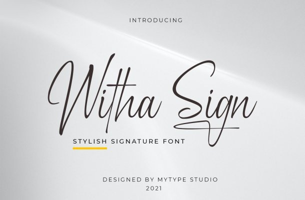 Witha Sign Font