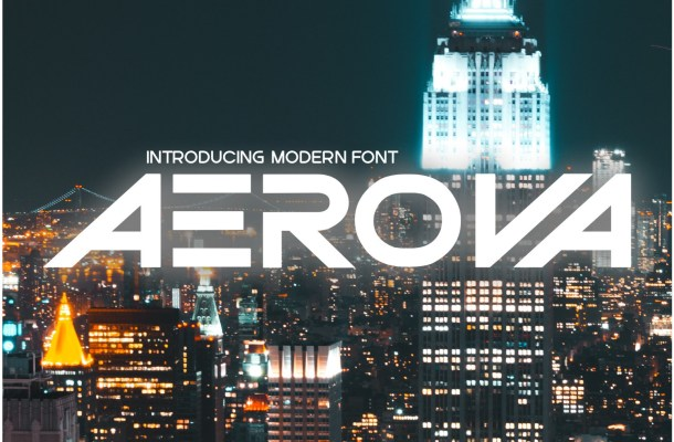 Aerova Font