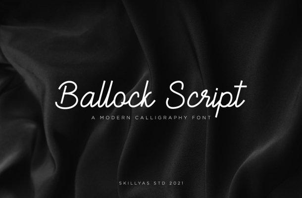 Ballock Font