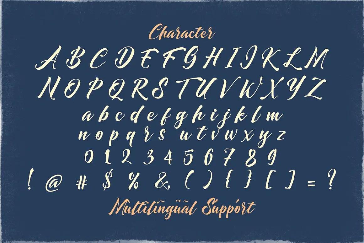 Dayden Batemisy Brush Script Font -3
