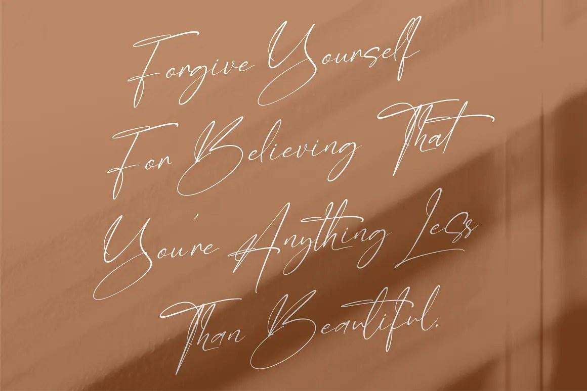 Derlantica Beauty Handwritten Font -2