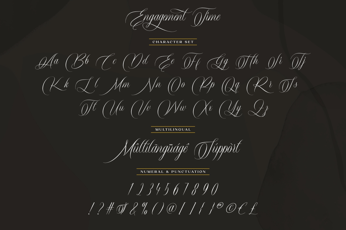 Engagement Time Calligraphy Font -3