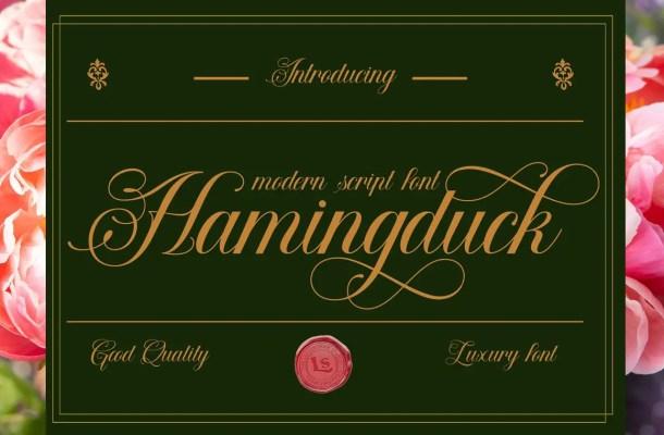 Hamingduck Font