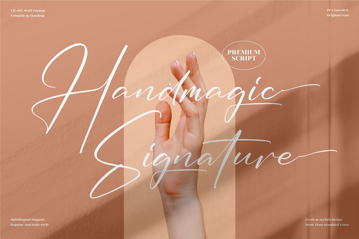 Handmagic SignatureScript Font -1