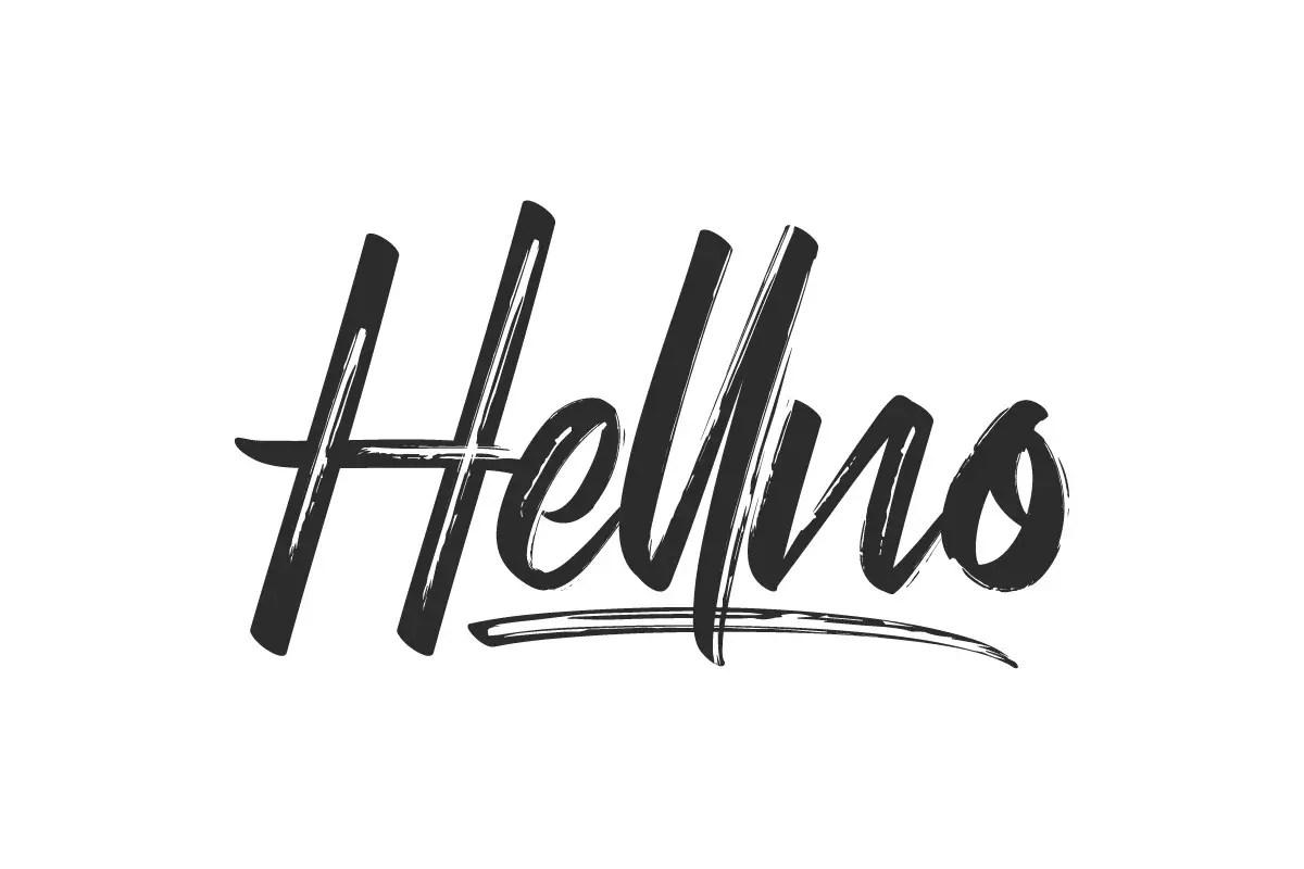 Hellno Brush ScriptFont -1