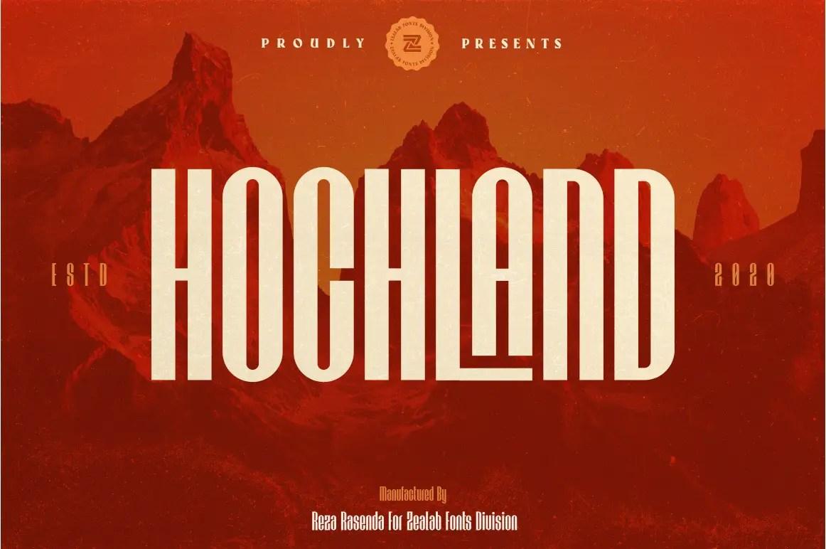 Hochland Modern Sans Serif Font -1