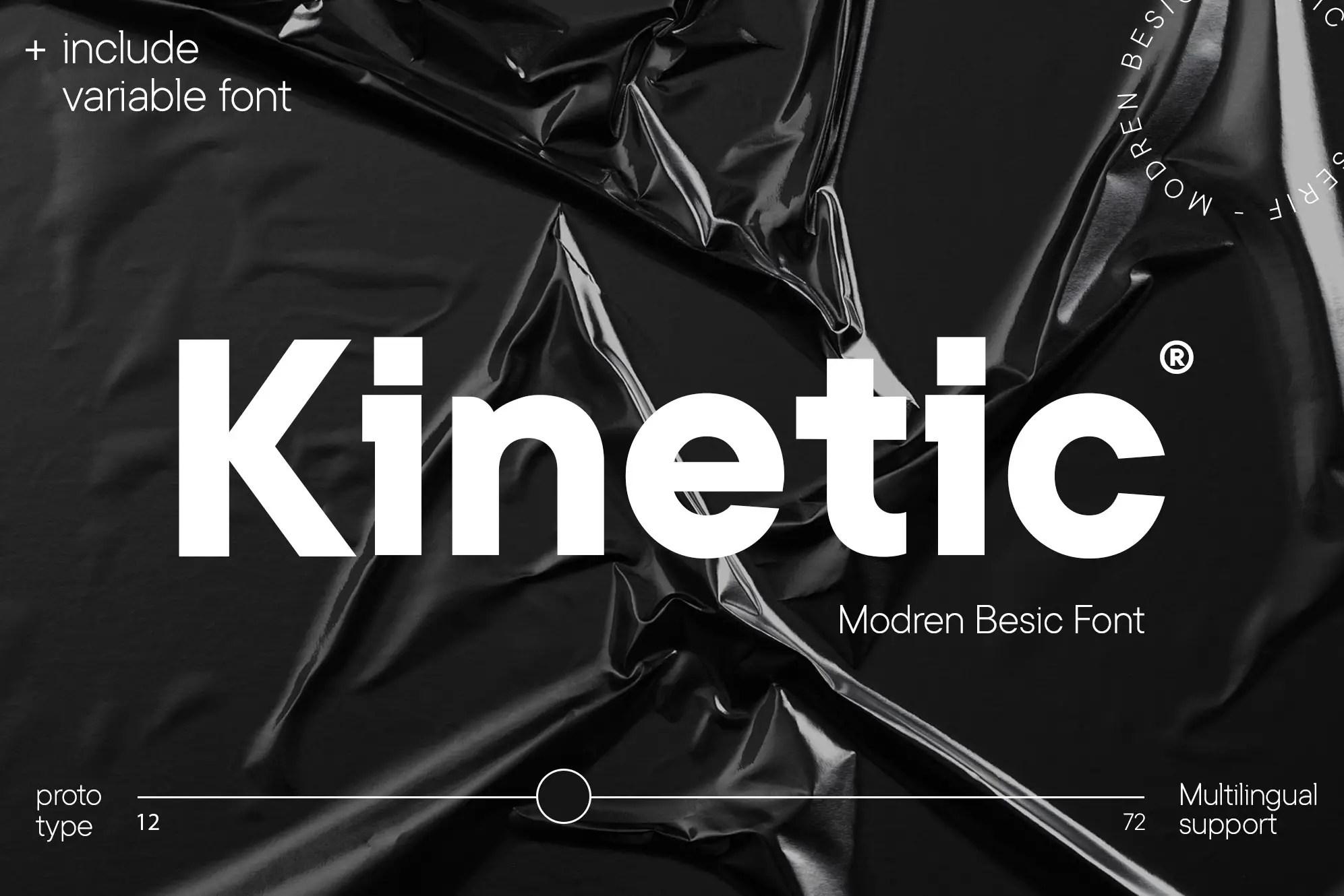 Kinetic Modern Serif Font -1