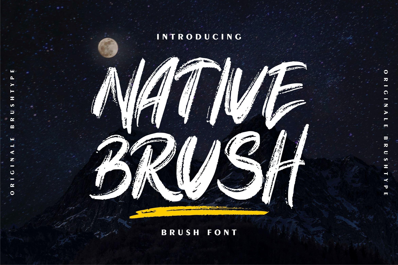 Native Original Brush Font -1