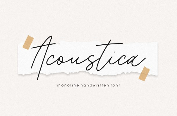 Acoustica Font