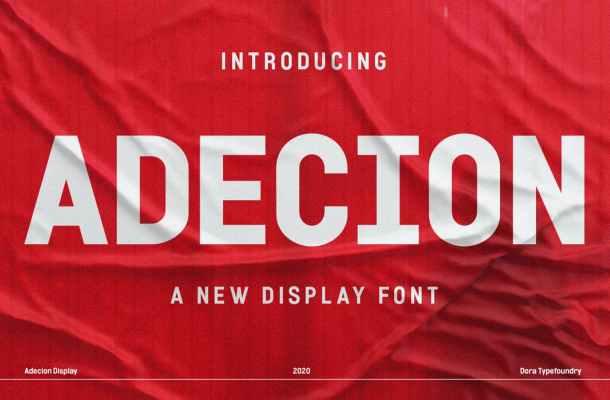 Adecion Font