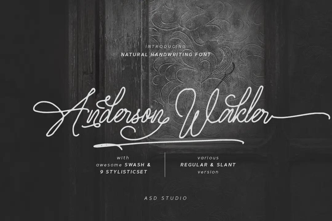 Anderson Wakler Script Font -1