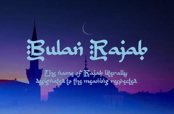 B Bulan Rajab Font