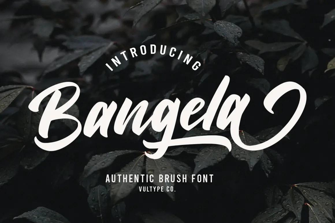 Bangela Brush Script Font -1