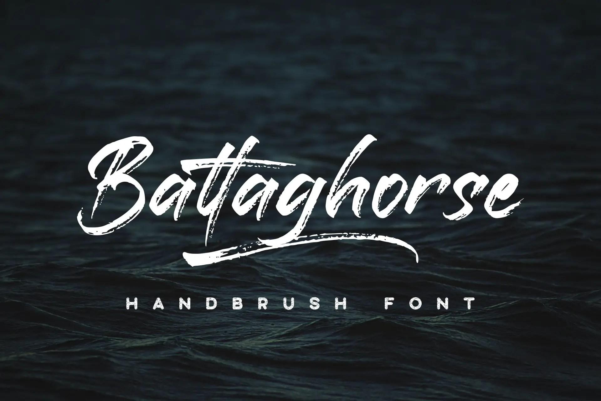 Battaghorse Handbrush Font -1