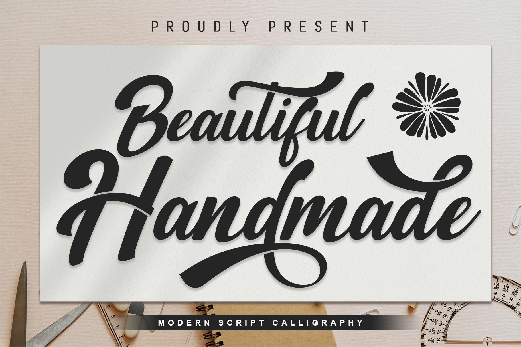 Beautiful Handmade Script Font -1