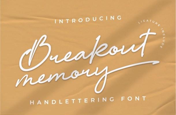 Breakout Memory Font