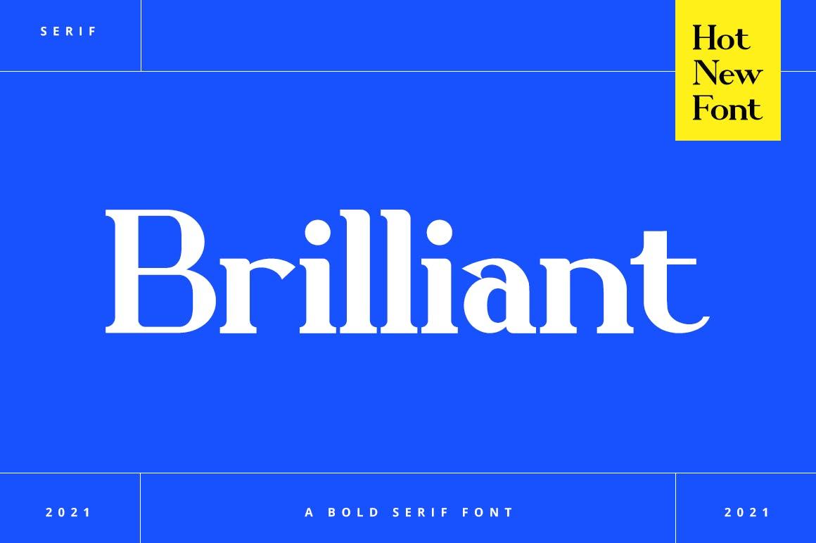 Brilliant Bold Serif Font -1