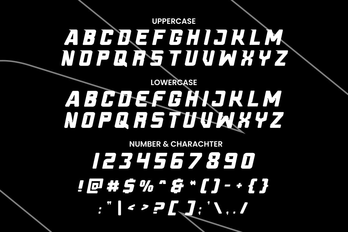 Fast Track Racing Gaming Font -3
