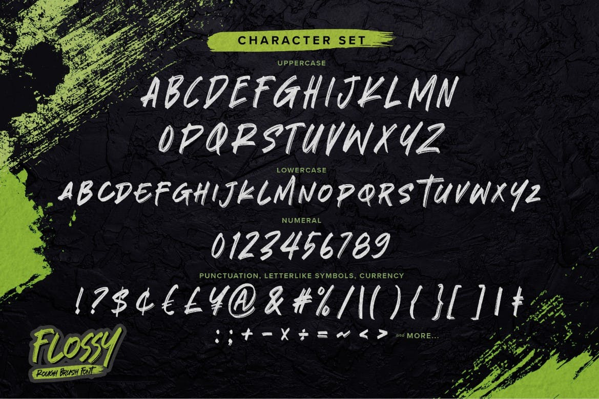 Flossy Rough Brush Font -3