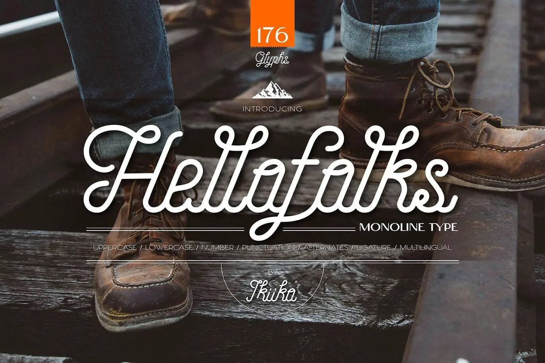 Hellofolks Monoline Typeface -1