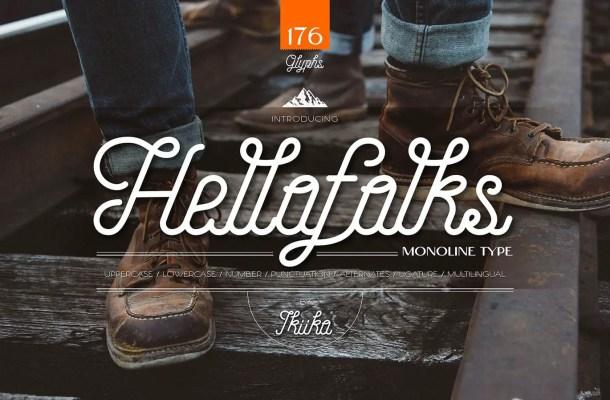 Hellofolks Font