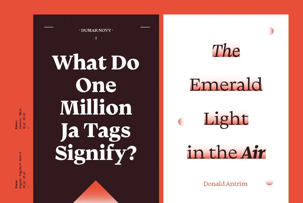 Kenac Modern Serif Typeface -2
