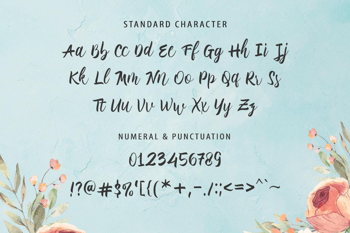 MaladenaModern Calligraphy Font -3
