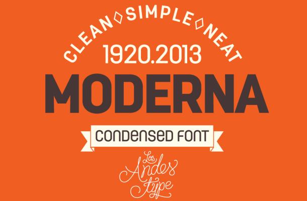 Moderna Condensed Font