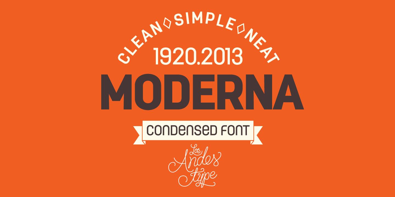 Moderna Condensed Sans Font -1