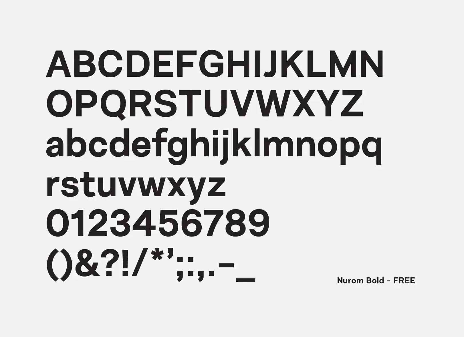 Nurom Sans Serif Typeface -3