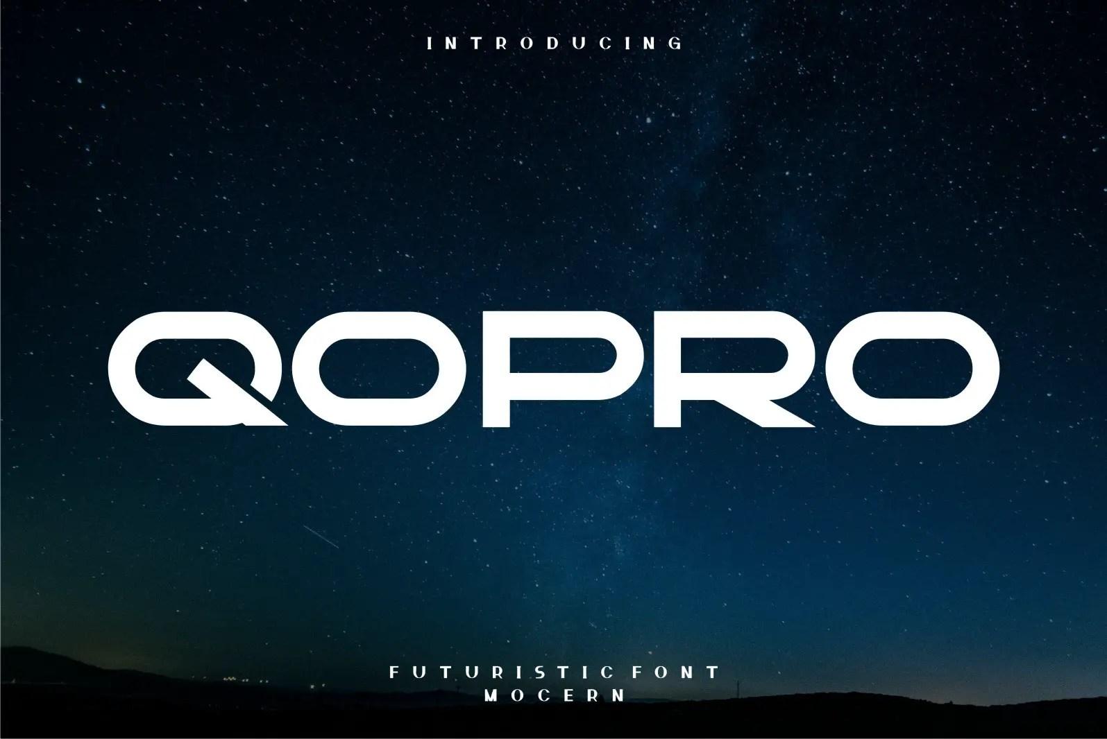 Qopro Display Font -1