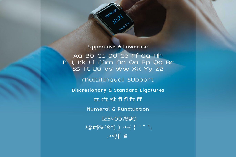 Swavao Tech Sans Font -3