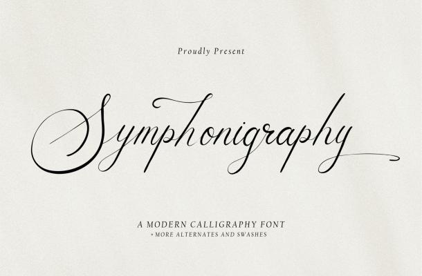 Symphonigraphy Font