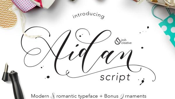 Aidan Script Font