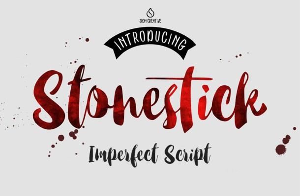 Stonestick Script Font