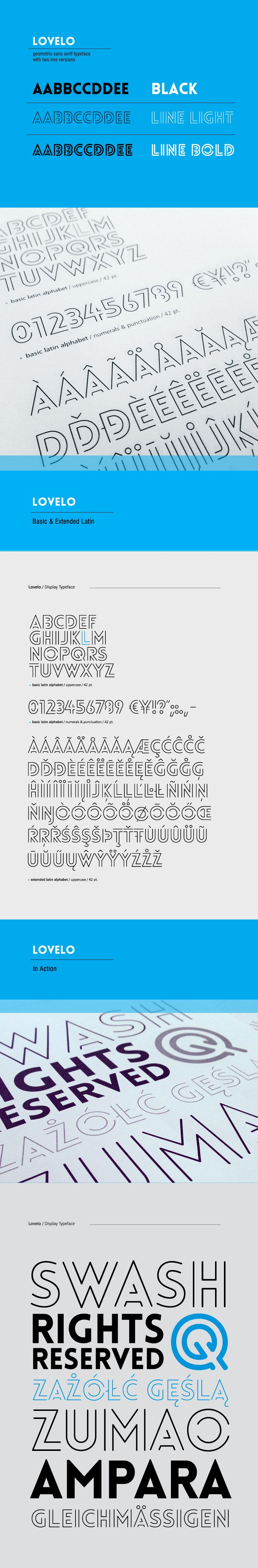 Lovelo font - Fontfabric