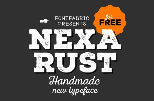 Nexa Rust free font ft