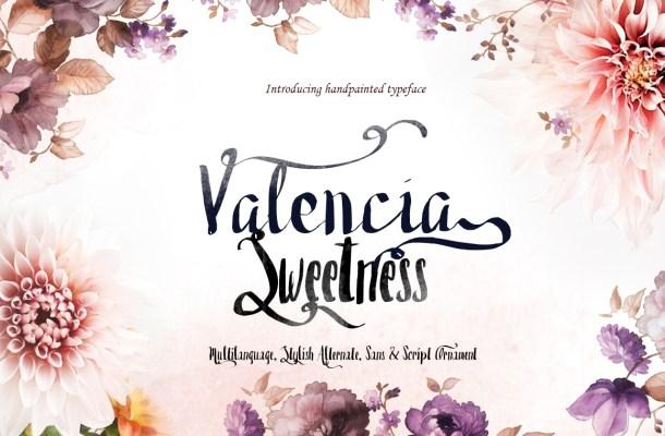 Valencia Sweetness Font Free
