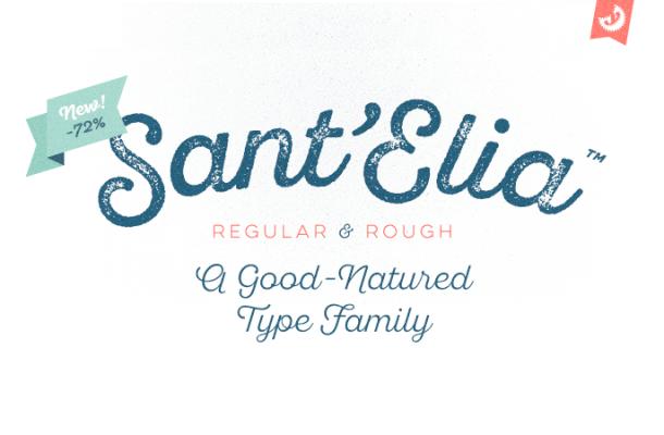 Sant'Elia Script Font Free