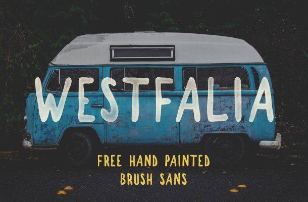 Westfalia Brush Font