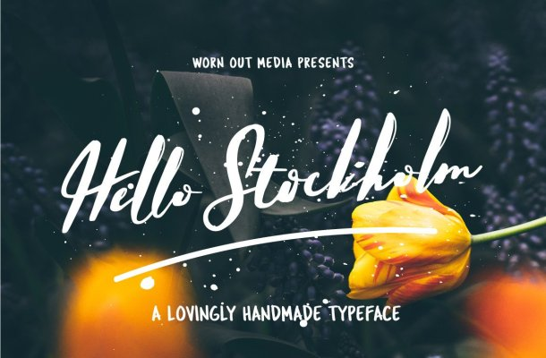 Hello Stockholm Font Free