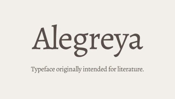 Alegreya Font Family