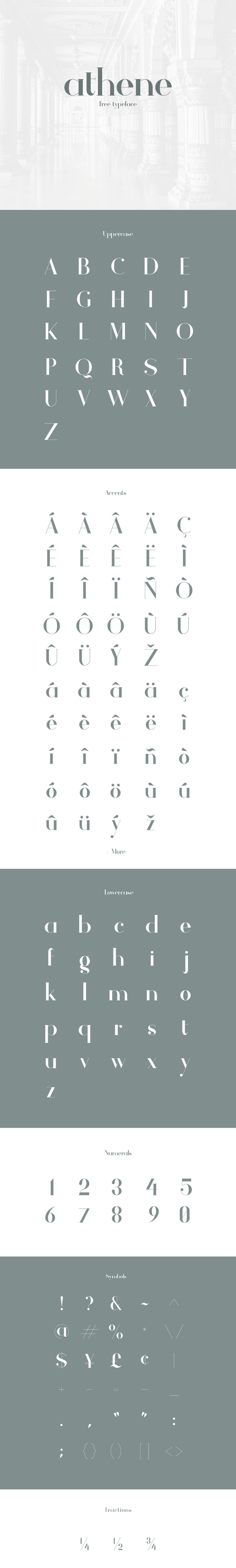 Athene Font Free - Dafont Free