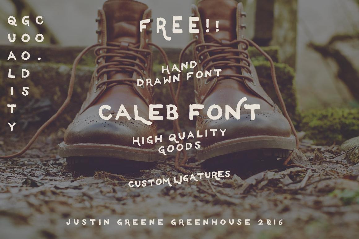 Caleb+-+Free+Hand+Drawn+Font