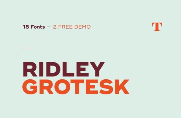Ridley Grotesk Font