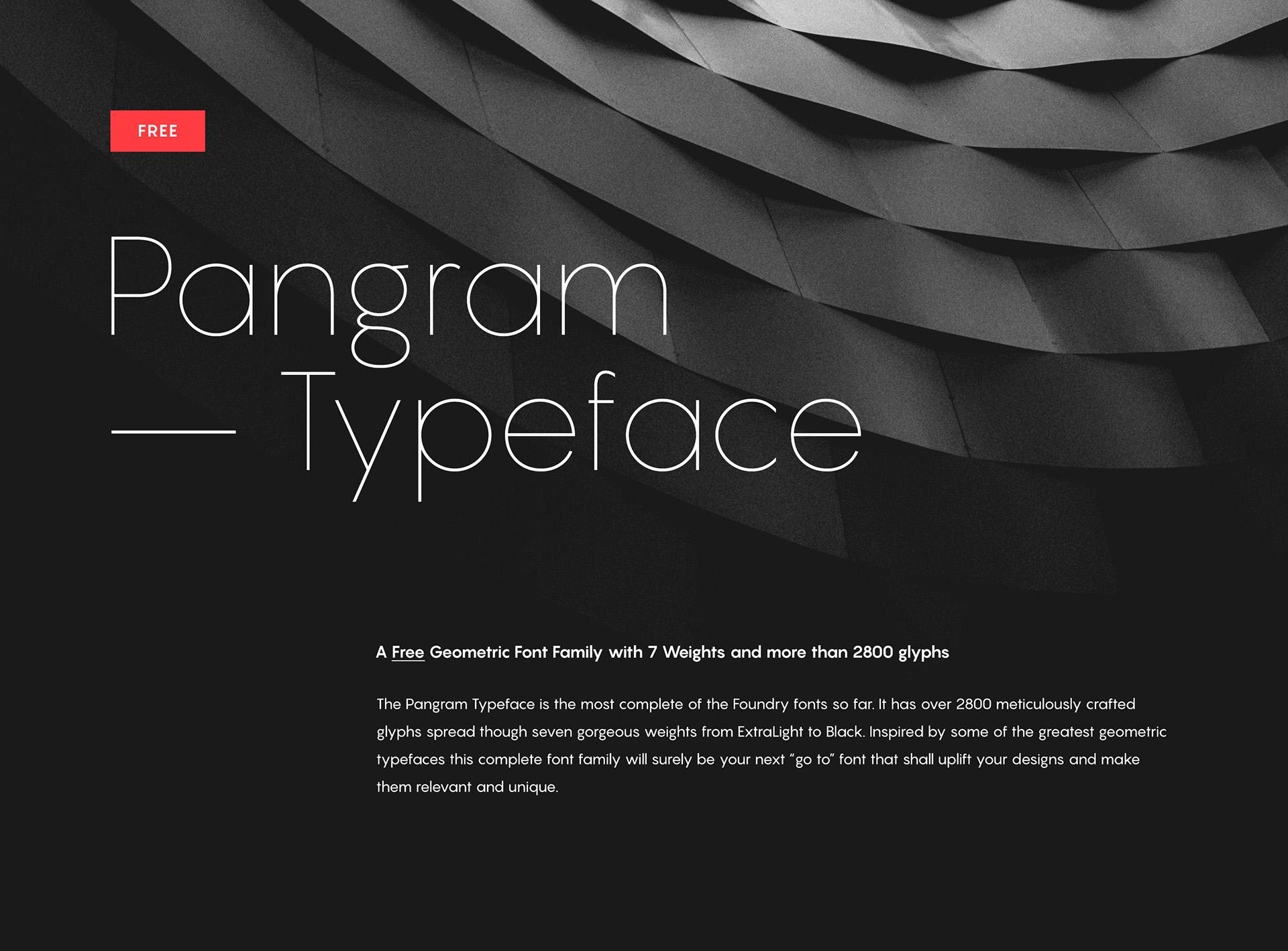 Pangram Sans Font Family - Dafont Free