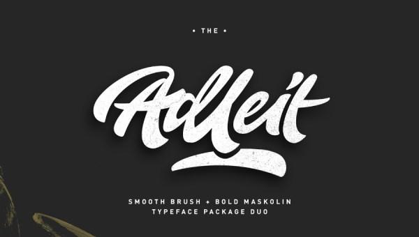 Aldeit Brush Script Font Free