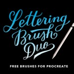 Procreate Lettering Brush Font Free
