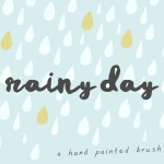 Rainy Day Brush Font Free